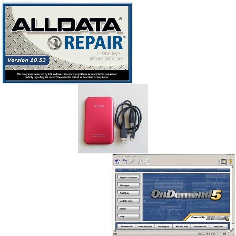 Shpping libre 750G HDD con reparación de automóviles Alldata V10.53 + 2014 Mit Soft-ware Fit Win 7 de reparación del sistema XP Car Soft-ware
