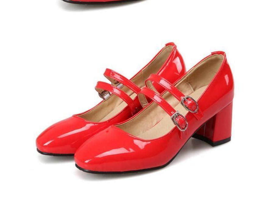 2020 весной и осенью с обувью Новый стиль моды Высокий каблук Грубый пятки площади головы водонепроницаемый табличной женщин в @ MQWBH786