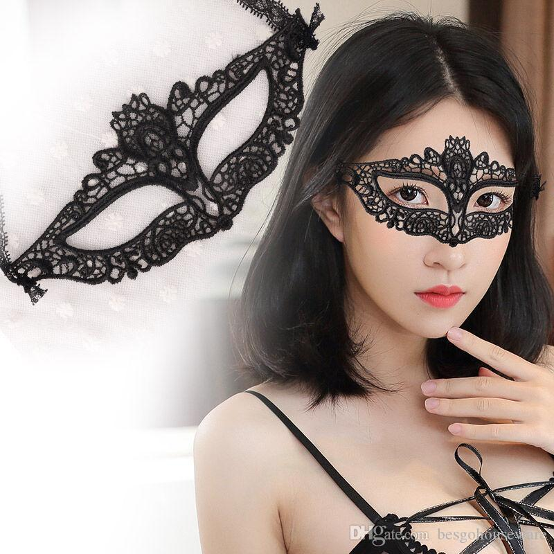 Mode Sexy Lady Lace Mask Masques Noir évider yeux coloré mascarade masque d'Halloween Party Mardi vénitien Costume 42 style BC BH1351