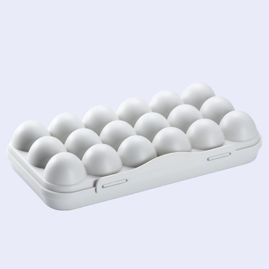 Egg Tray Holder Egg Storage Box Refrigerator Crisper Storage Container 30*15*6.5cm PP Plastic Egg Tray Holder Household Hot Sale