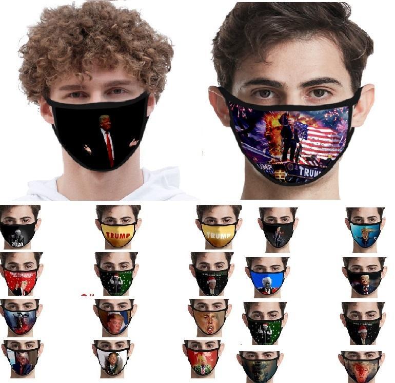 인쇄 마스크 유니버설의 경우 남성과 여성 미국 국기 방진 아이스 실크 페이스 마스크 트럼프 미국의 선거 용품 XHH9-3045 마스크