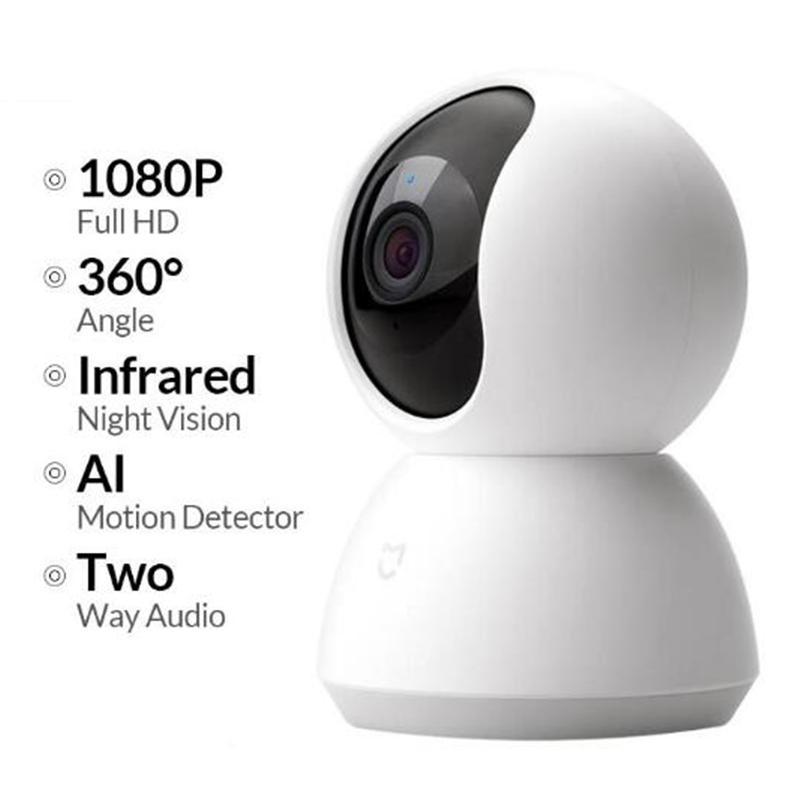 Caméra Xiaomi Mijia Mini IP WIFI 2MP 1080P HD Infrarouge Night Vision Nuit à 360 degrés Système de caméra Smart Mi Smart MI Security Security