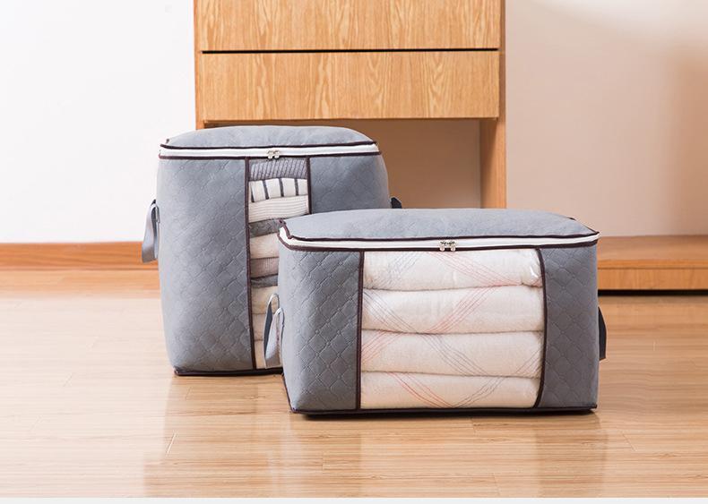 غير المنسوجة لحاف حقيبة التخزين طوي الملابس بطانية وسادة underbed الفراش المنظم حقيبة المنزل خزانة تخزين مربع حالة dbc VT0714