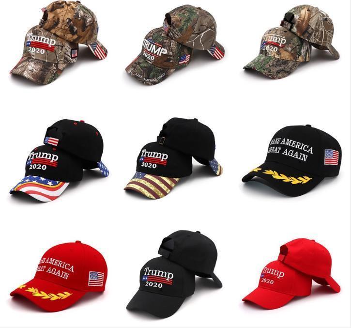 Trump 2020 Şapka Nakış Baskı Beyzbol şapkası Donal Trump beyzbol şapkası şapka Amerikan Başkanlık Başkanı Trump Kamuflaj şapkası