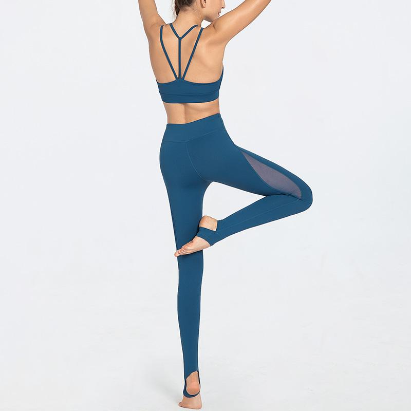 2020 di alta qualità sportiva Loving Set Yoga Palestra Donne Sport Fitness abbigliamento sportivo Mesh Patchwork Palestra Yoga Donne Set