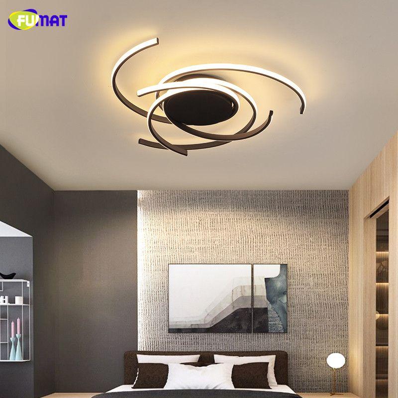 FUMAT Modern Led Chandelier for bedroom corridor foyer living room kitchen Black/White 90-260V Led Ceiling Chandelier Fixtures
