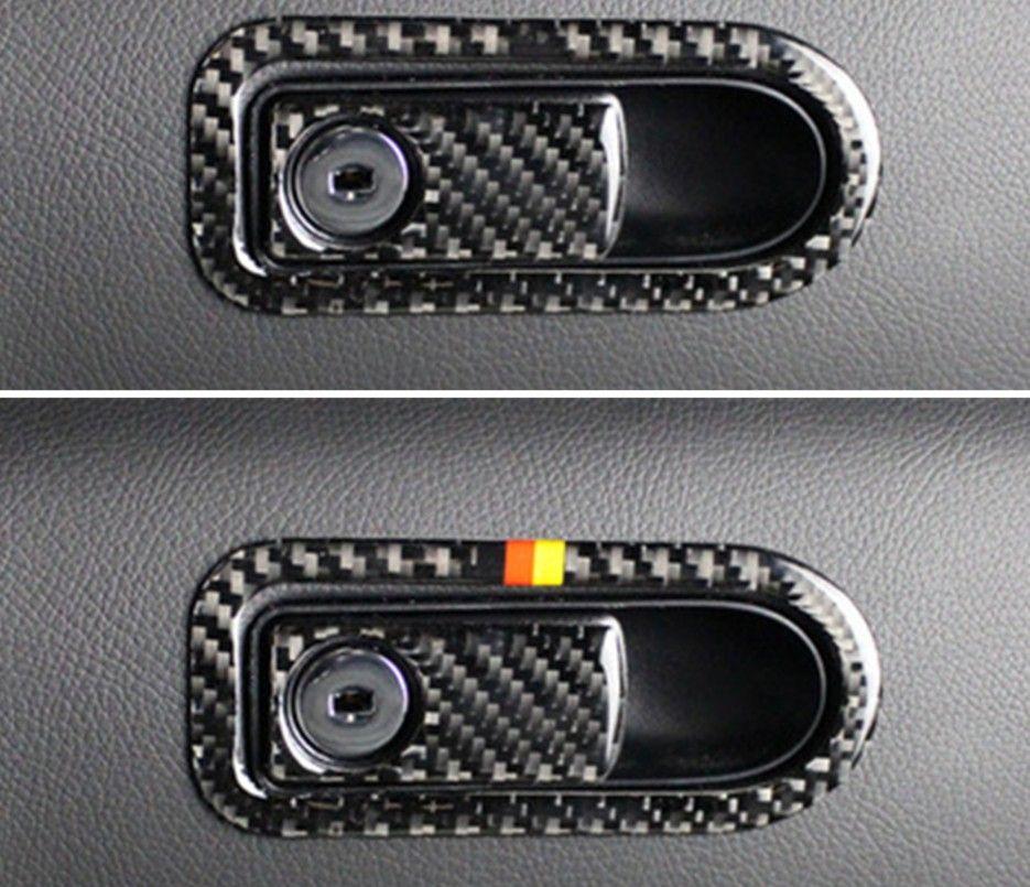 Carbon Fiber Co-pilot Storage Box Handle Bowl Trim For Mercedes Benz C Class