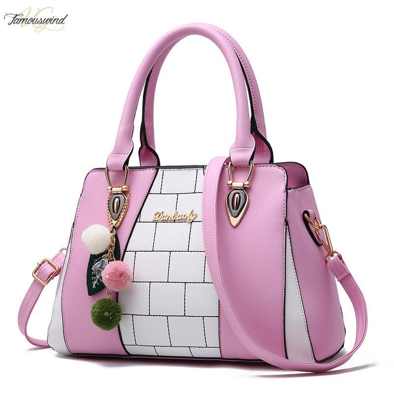 Female Bag 2020 Women Handbags Pu Leather Female Shoulder Bag Fashion Plaid Lady Crossbody Bag Large Capacity Pu Tote Sac