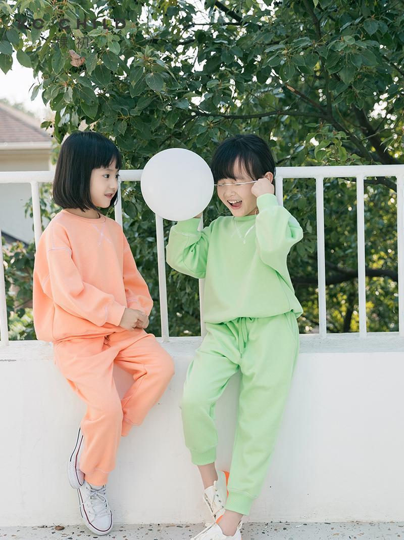 KC.Çocuk 2020ss son 2 adet çocuk düz renk sportif tarzı elbise kıyafet pantolon seti bebeğin günlük kıyafetler set yaş 2-13Y T200414