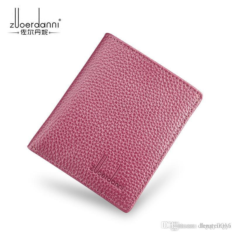 Hot klassische Business-Frauen-Kartenhalter lässig aus echtem Leder Herren Brieftaschen Design Top-Qualität Mann Karteninhaber 12abcdef 35