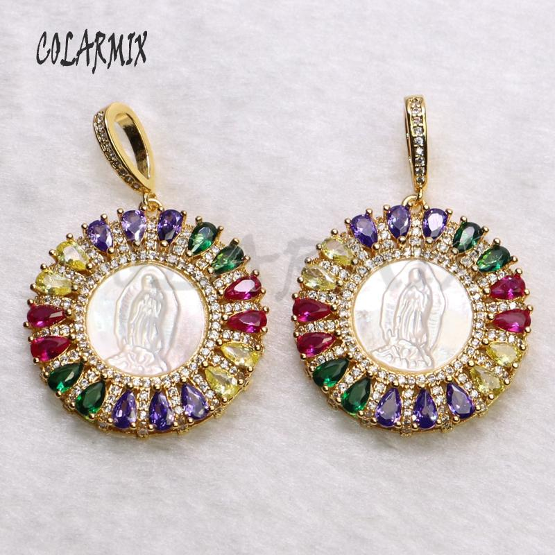 5 прядей Rainbow Crystal Close Clange Ожерелье Циркон Аксессуары для женщин Лето Цвет Драгоценности Сравниватели Каменные подвески Ожерелье 5511