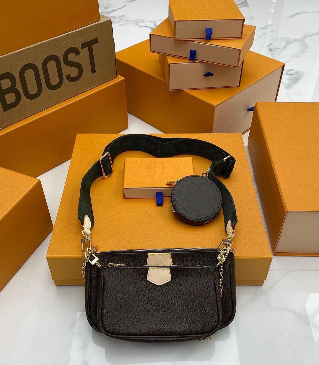 Brand bags MULTI POCHETTE ACCESSOIRES 2020 new Fashion Women's Small Shoulder Bag brand Chain Crossbody bag designer luxury handbags purses