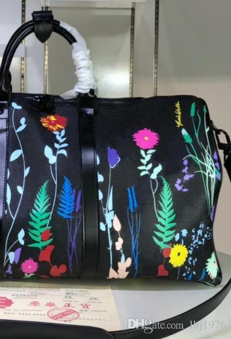 Reisekapazität Wasserdichte Große Reisende Wochenende Handtaschen Duffle 2021 Mode Frauen Gepäck 41416 Tasche Echte Handtaschen Leder Lvekc