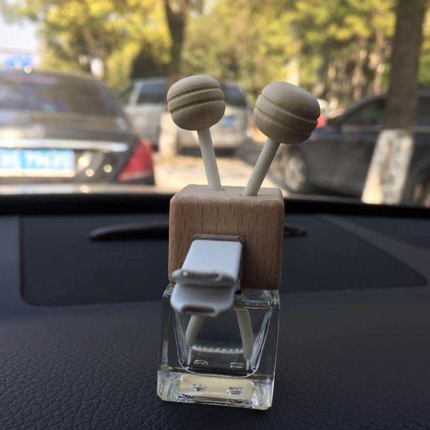 DHL livre clipe de Madeira 8 ML Carro Pendurado Perfume Espelho Retrovisor Ornamento perfume Refrogerador De Óleo Para Óleos Essenciais Difusor Fragrance-072401