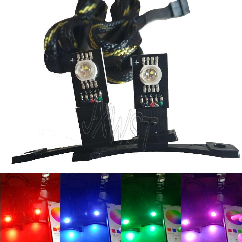 """5W yüksek güç RGBW / RGB iblis göz şeytan göz 2.5"""" 3"""" projektörler için ışık uyum led"""
