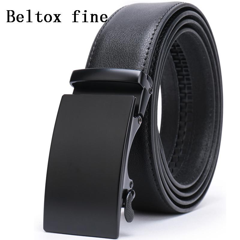 Los hombres automáticos de la hebilla de correas para los hombres, Slide trinquete Correa con cuero auténtico 1 3/8 Big and Tall ceinture ceinture clásico homme