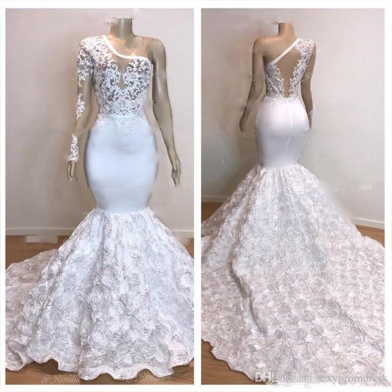 One Sleeve Mermaid Wedding Dresses