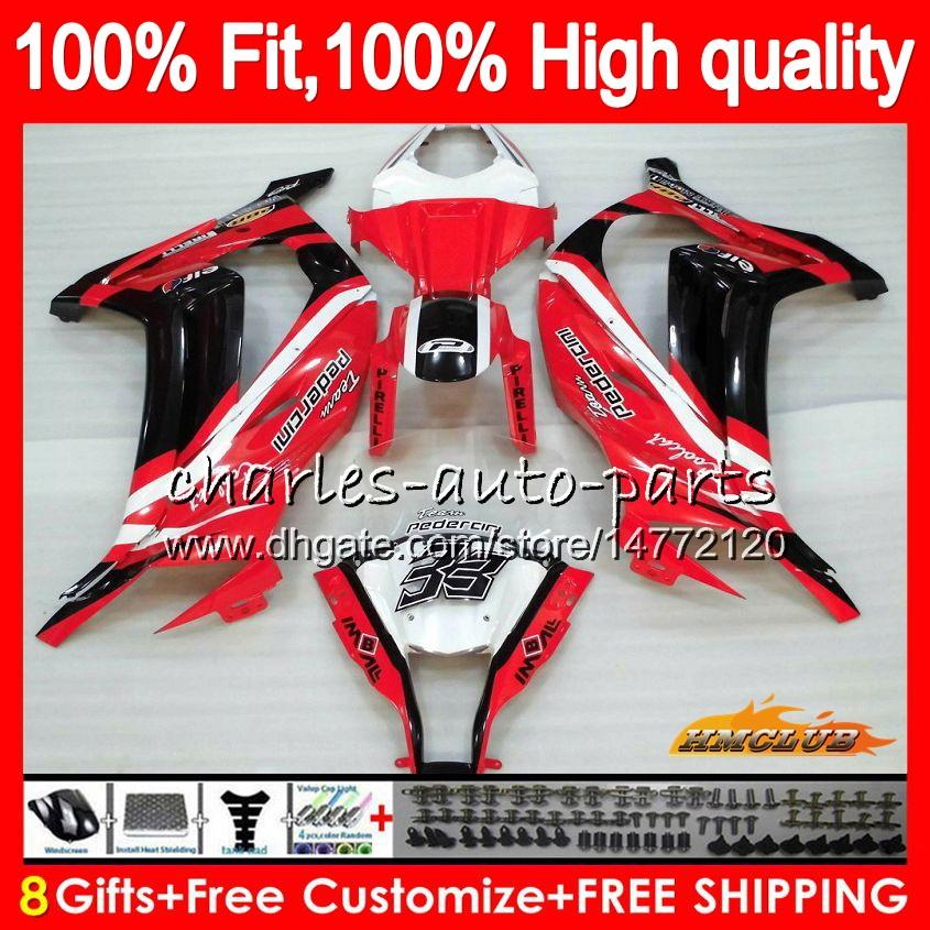 Injection For KAWASAKI ZX 10 R ZX1000 C ZX10R 11 12 13 14 15 46HC.45 ZX 10R 1000CC ZX-10R 2011 2012 2013 2014 2015 glossy red OEM Fairing