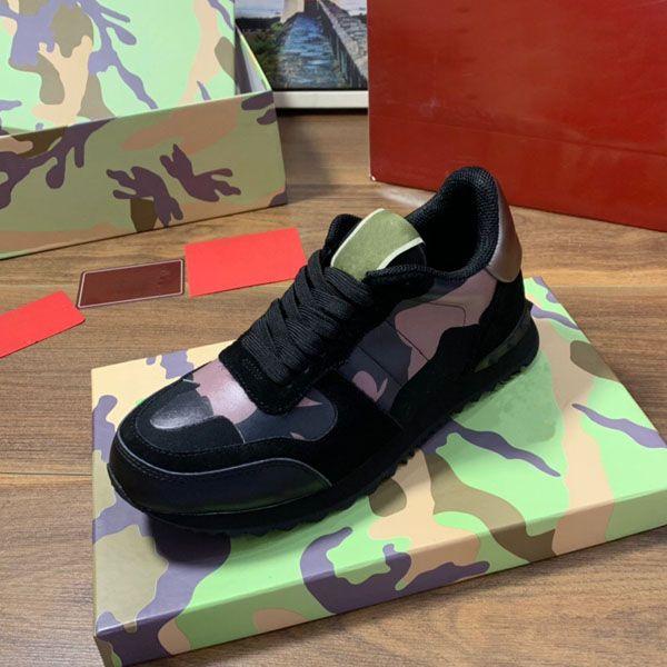 couro lona designer de sapatos camuflagem 2020 homens roupas da moda vermelho tamanho confortável tênis de fundo chato homens casual 38-45
