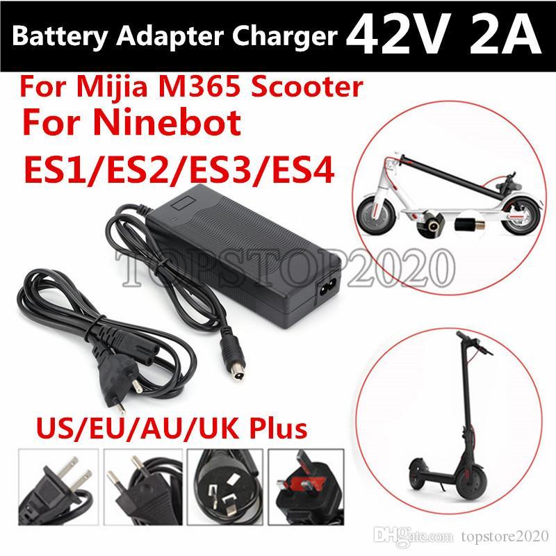 42V 2A Quick Power caricabatteria adattatore per MijiaM365 Ninebot ES1 / ES2 / ES4 / LIME Scooter elettrico