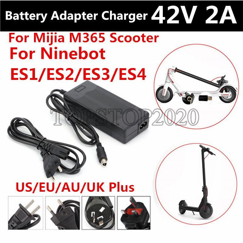 42V 2A Quick Power cargador de batería Adaptador Para MijiaM365 Ninebot ES1 / ES2 / ES4 / CAL Scooter eléctrico