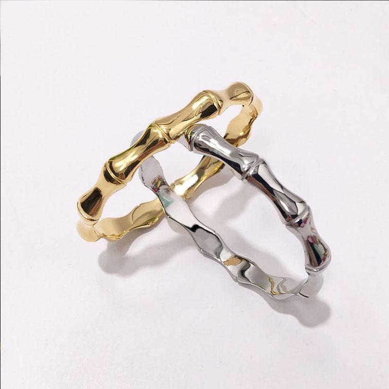 도매 보석 남성 여성 커프 팔찌 2020 패션 새로운 스테인레스 스틸 대나무 뼈 고품질 한국