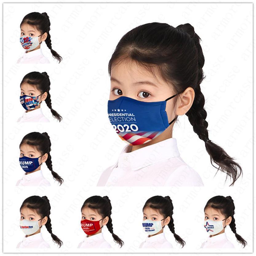 Pour filles de garçon Masque président américain Concepteurs Lettres Imprimé enfants Enfants Masque Trump 2020 Drapeau poussière Fog PM2,5 Marque Lavable Cover D52810