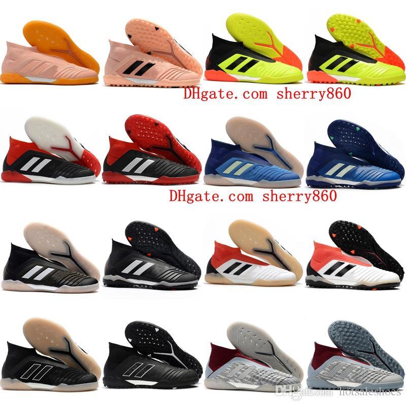 2018 hombre de cuero para hombre zapatos de fútbol Predator Tango Accelerator 18 en TF césped botas de fútbol tacos de fútbol interior Chuteiras Pogba Original