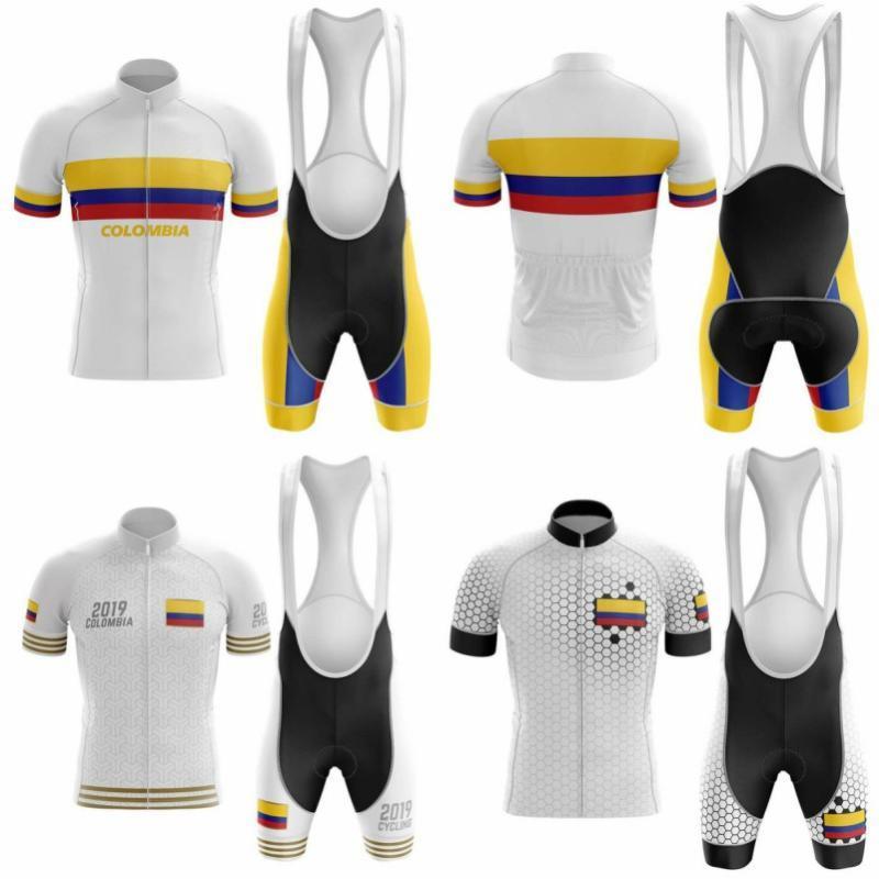 2020 Новый велосипед команды с коротким рукавом 5D Gel Pad Мужские наборы Велоспорт Джерси лето дышащая Велоспорт Одежда
