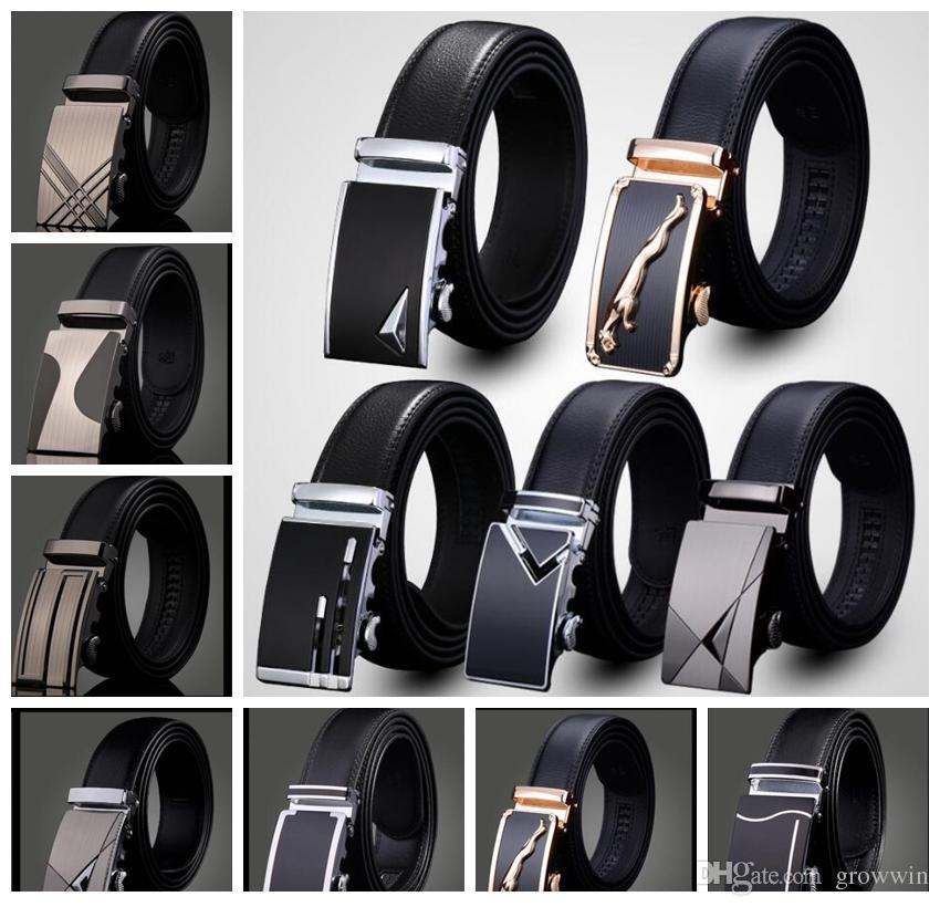 cinturino in pelle da uomo Cinturino automatico con fibbia alla moda per il cinturino in vita con cinturino in vita casual di lusso 76 design D0322