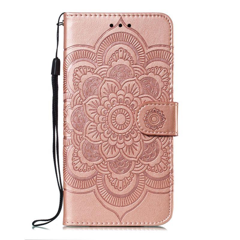 Mandala relevo Capa Para Xiaomi redmi 6 / redmi 6A / redmi 6 Pro / redmi Go Flip Case suporte PU carteira de couro Mobile Phone Bags