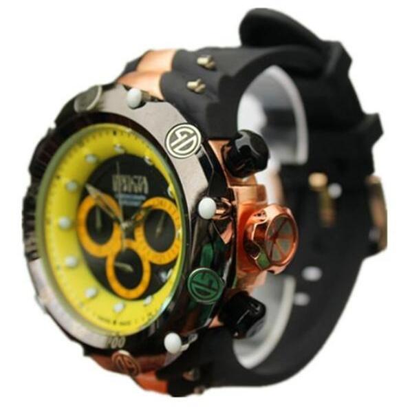 Top qualidade COSC suíço marca INVICTA grandes Gira cronógrafo calendário completo Vários fusos horários dos homens silicone relógio de quartzo