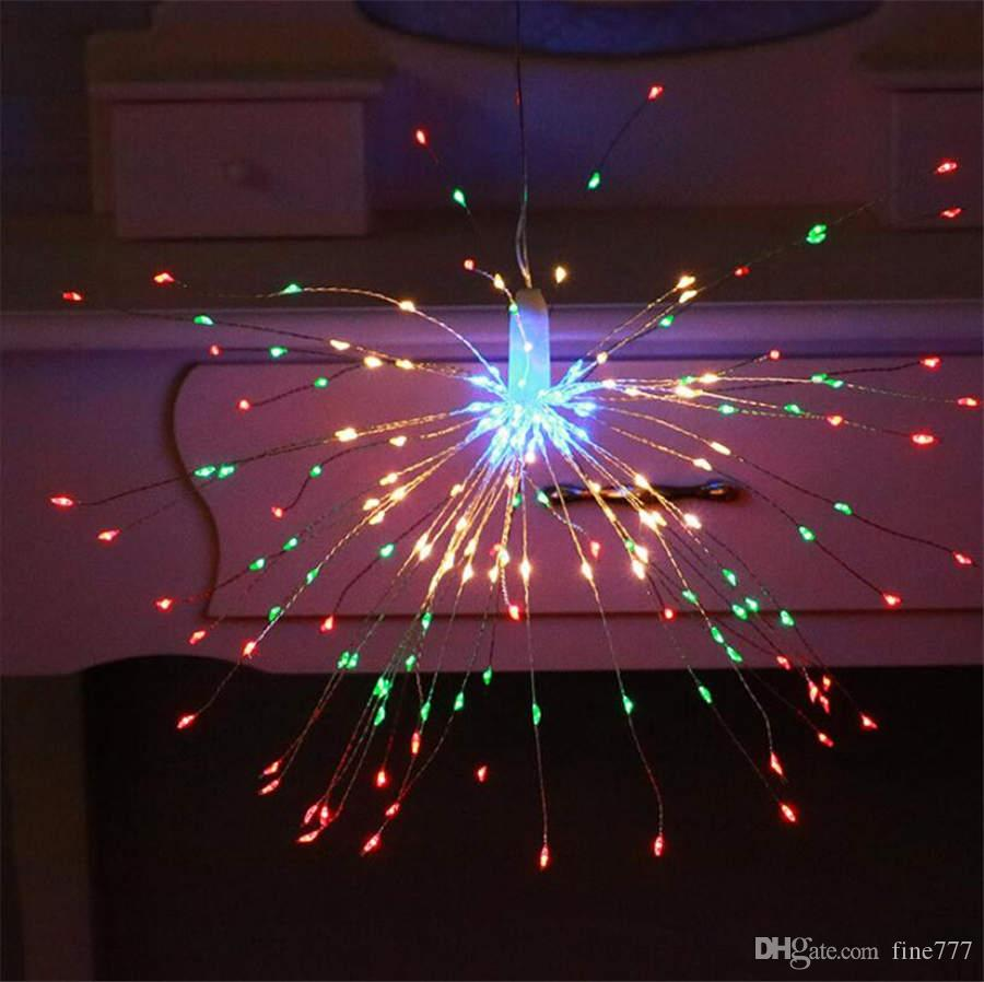 أدى الأسلاك النحاسية أضواء الألعاب النارية ضوء النجوم الشمسية ضوء سلسلة أضواء في الهواء الطلق للماء الديكور شنقا أضواء الفوانيس تخطيط الغرفة