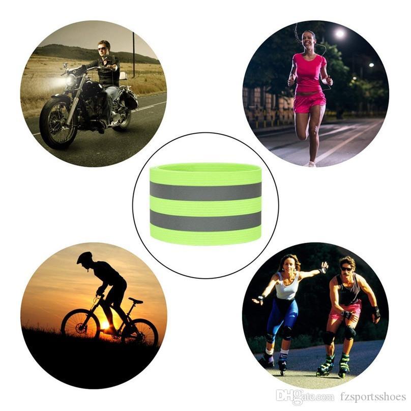 4Pcs Bike Bicycle Reflective Ankle Leg Bind Wrist Safety Band Pants Clip Strap