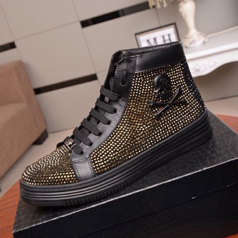 S2 Art und Weise modische Casual Herrenschuhe, Qualität Gemütlich Luxus Herrenschuhe Lederturnschuhe ursprünglicher Kasten Verpackung Zapatos Hombre