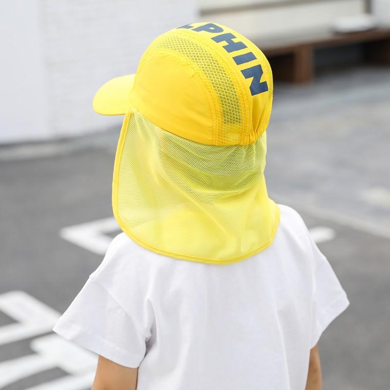 Sommer 0-5 Jahre Bebe Sonnenhut Kinder im Freien Hals Ohr Abdeckung Anti UV-Schutz Strand-Kappen-Kind-Jungen-Mädchen-Schwimmen Flap Caps SDKRU
