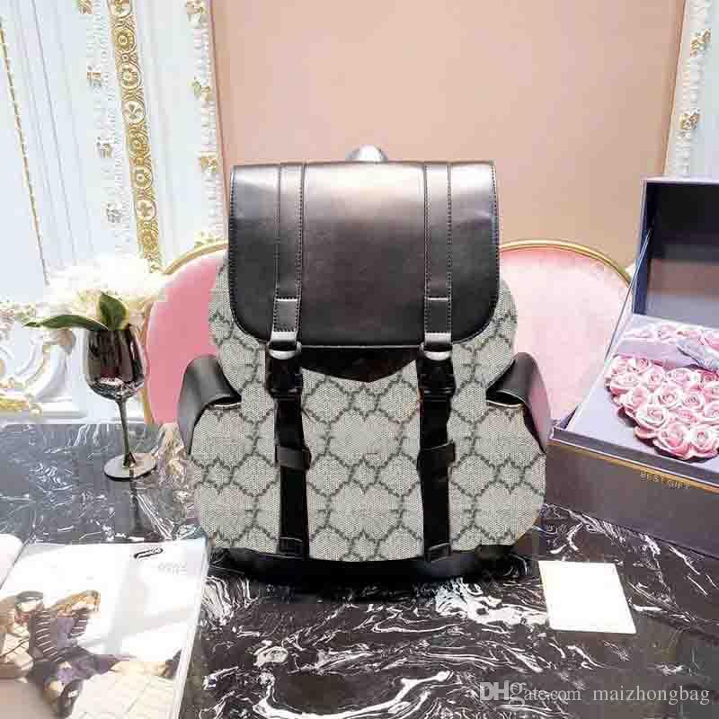 Hombres mujeres mochilas de diseño de gran capacidad bolsas de viaje de moda bolsos de estilo clásico cuero genuino top qualty