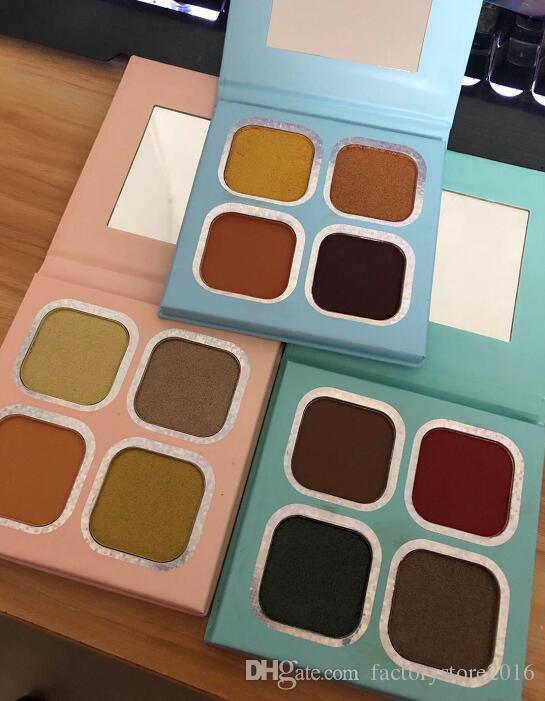 KOURT Pressed Powder Eye Shadow Palette 4 Colors Makeup Highlights Eyeshadow Palettes 4 x 1.8g Women Make Up Cosmetics