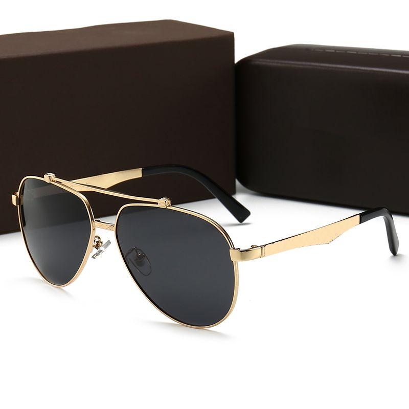 1 unids retro marca marrón gafas sol gafas de sol clásico hexagonal hombre marco gafas de gafas metal oculos de gafas Gafas Casos Mujeres con MJXPD