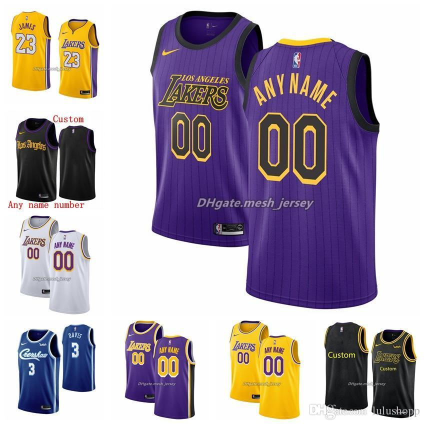 2021 Customized Los Angeles Lakers Men Women Kid Custom Name ...