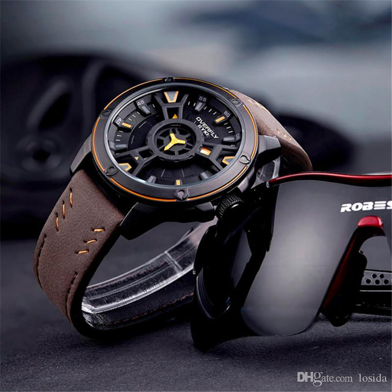 best watches for men 2019 2019 Men'S Watches Top Brand Leather Strap Ultra Slim Luminous