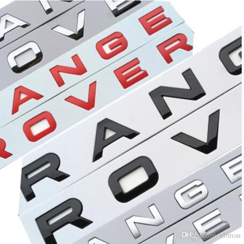شارة سيارة التصميم جذع الشعار شعار ملصق تغطية ل رينج روفر سبورت إيفوك