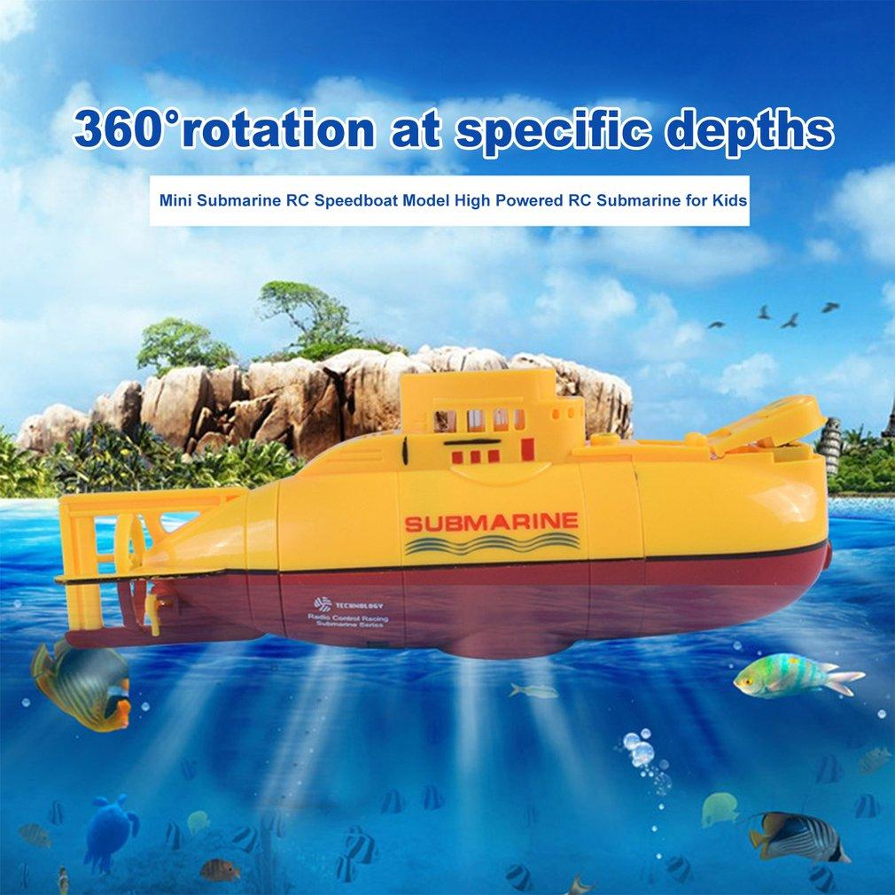 Mini Submarine RC Ready to Run Speedboat Model High Powered 3.7V Large Model RC Submarine Outdoor Toy with the Remote Controller