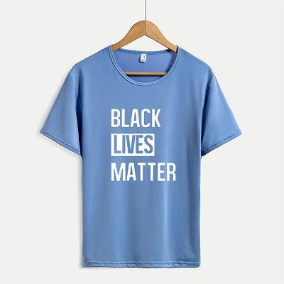 Черный живет материя футболки женщин Новое поступление с коротким рукавом футболки мужские письмо печать топы свободного покроя Outsoorwears негабаритных горячей продажи