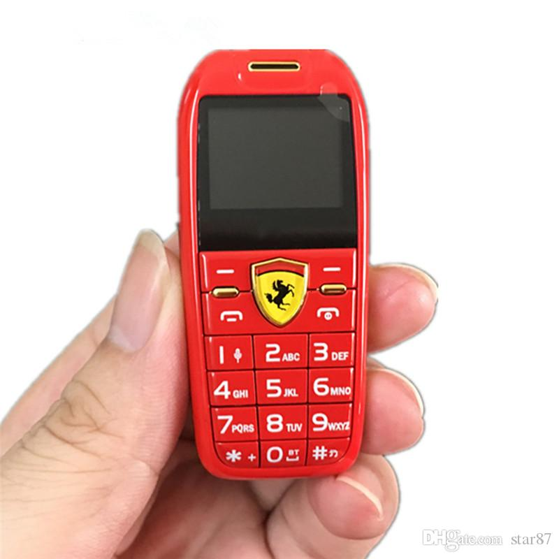 "Unlocked Mini Car Key Push Button Mobile Phone 1.0"" Hands Telephone Magic Voice MP3 Bluetooth Dialer Tiny Size Cheap Children CellPhone"