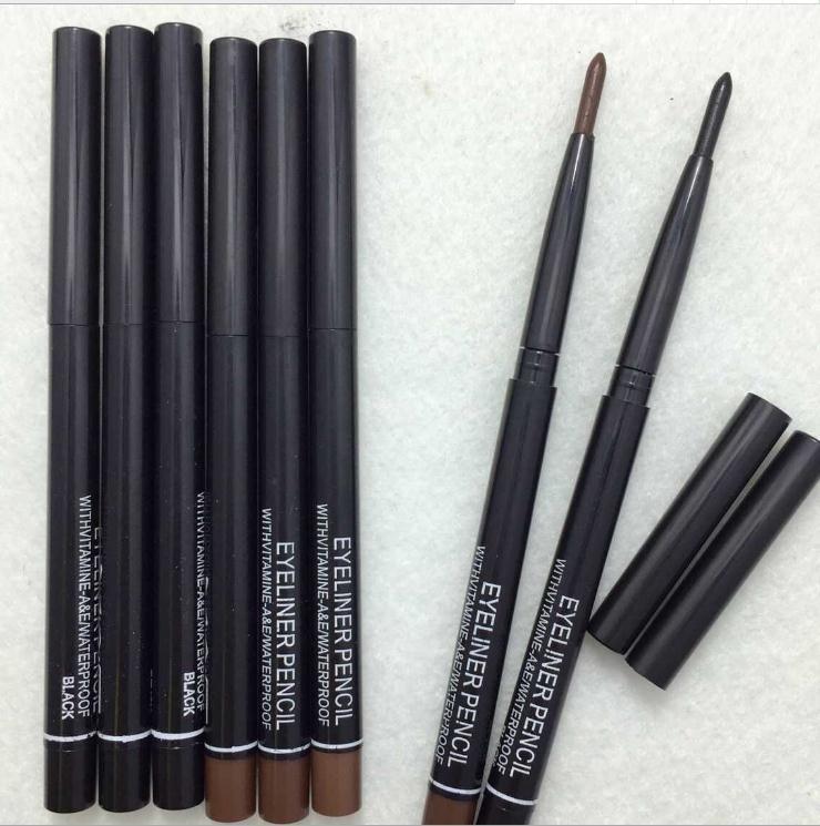 جديد مقاوم للماء كحل قلم الحواجب مستحضرات التجميل أدوات ماكياج أوتوماتيكي قابل للسحب الروتاري الأسود براون ماكياج الحرة الشحن