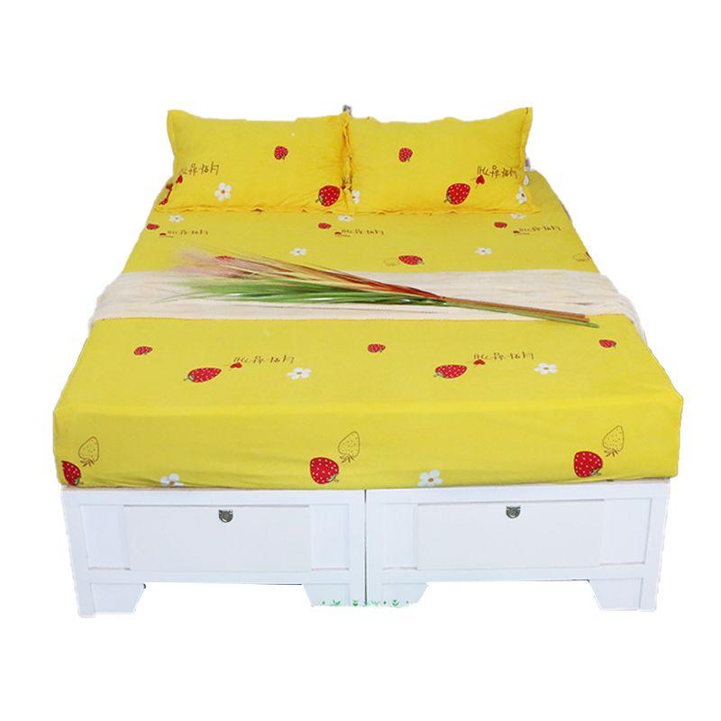 Фланель Простынь ватки коралла ткани постельных лист Printed Твин X Long Твин Полный Queen King California King Size
