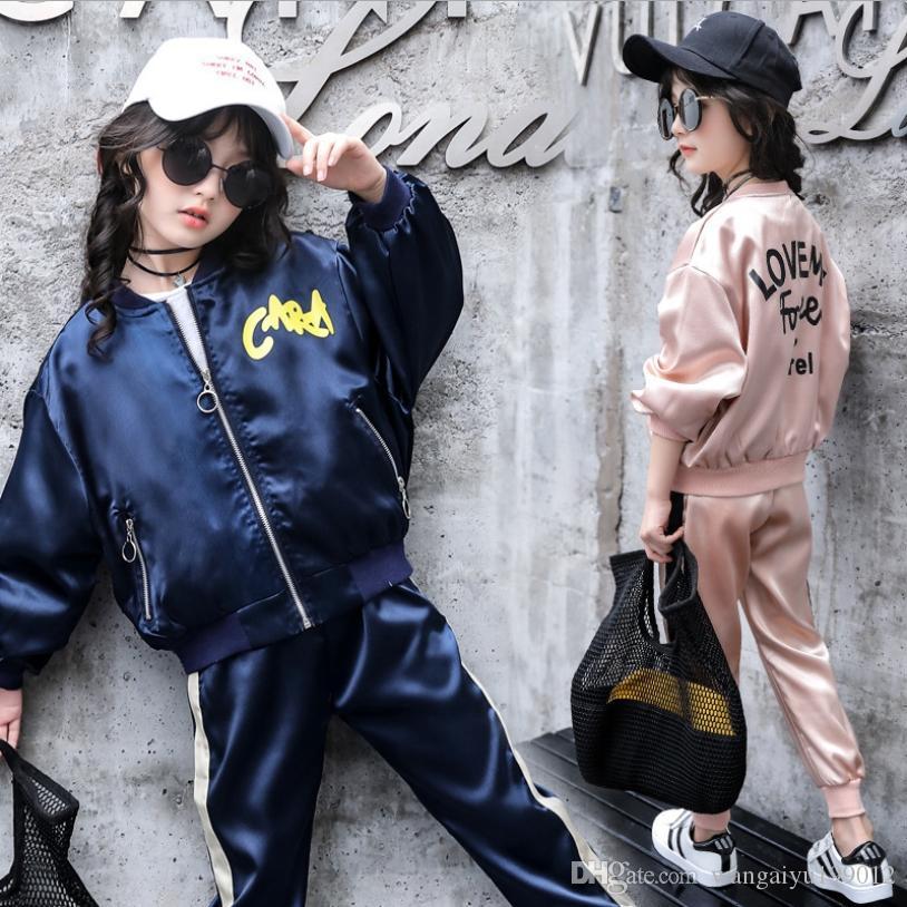 Ocean Barra Girls Set Kids Wear Sisters Two Piece Set Winter Two-Piece Fashion 2019 Sports