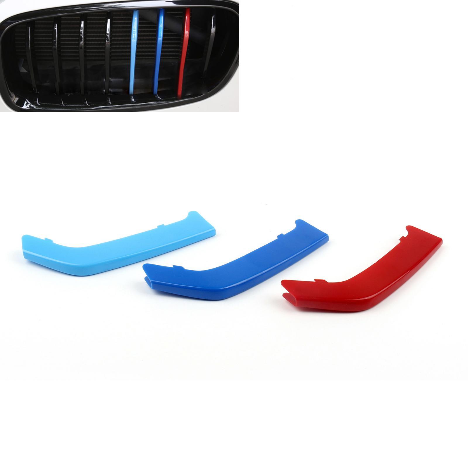 AREYOURSHOP передние почек Grill Grilles M Стиль наклейка TRI-цветной пряжки для BMW 3 серии F30 13-15 охватываний автомобилей