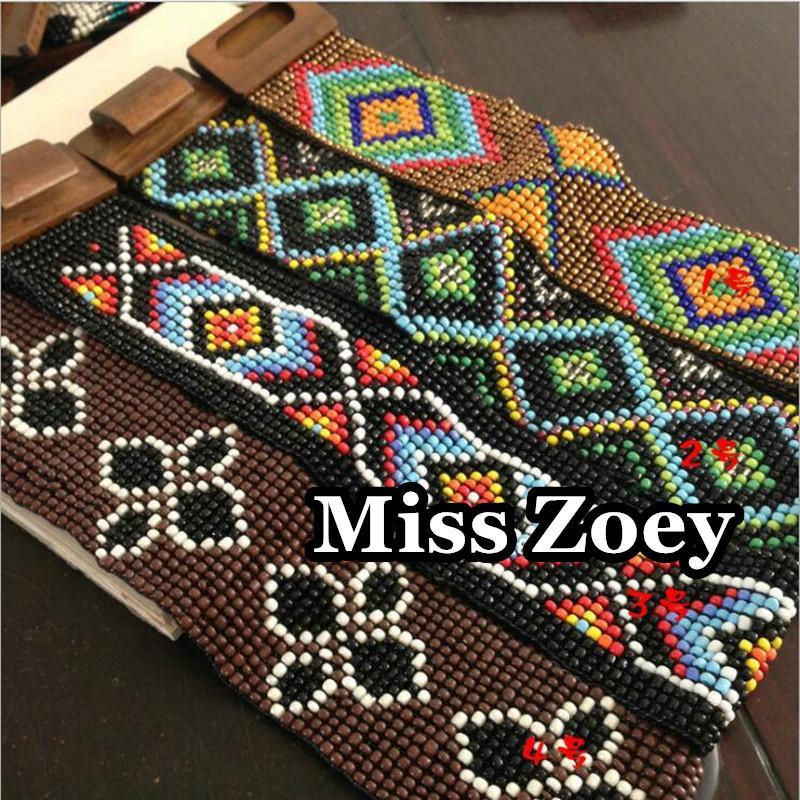 OTS008 (1), semi di canapa Handmade Woven Hippy Boemia in rilievo di vetro Amicizia cinturino della cinghia Catena Vita per le donne T200507